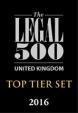 Top Tier Set - Legal 500 2016